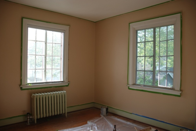 Small Bedroom Almost Painted