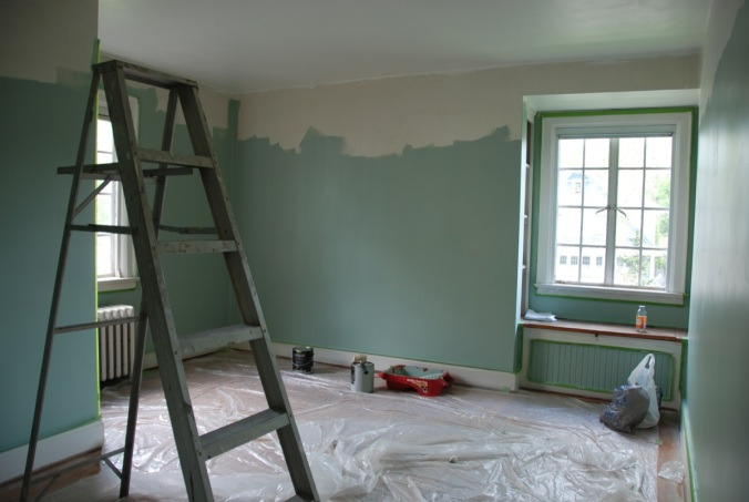 Medium Bedroom During Painting