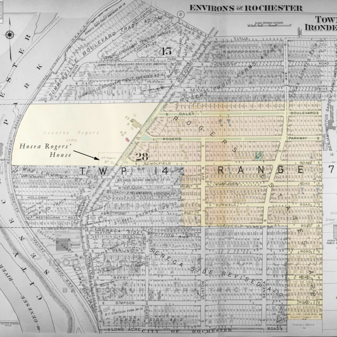 """""""Environs of Rochester,"""" Plate No. 1, 1931 - by G. M. Hopkins Co, through Rochester Local History Division, edited by me"""