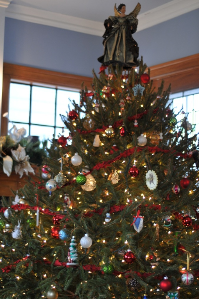 We have an assortment of ornaments that Kit has received yearly from her Grandmother as well as some local Rochester artisans.